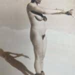 Nackte Frau beim Sonnenbaden (unbekannt)