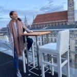 Blick auf die Frauenkirche, München